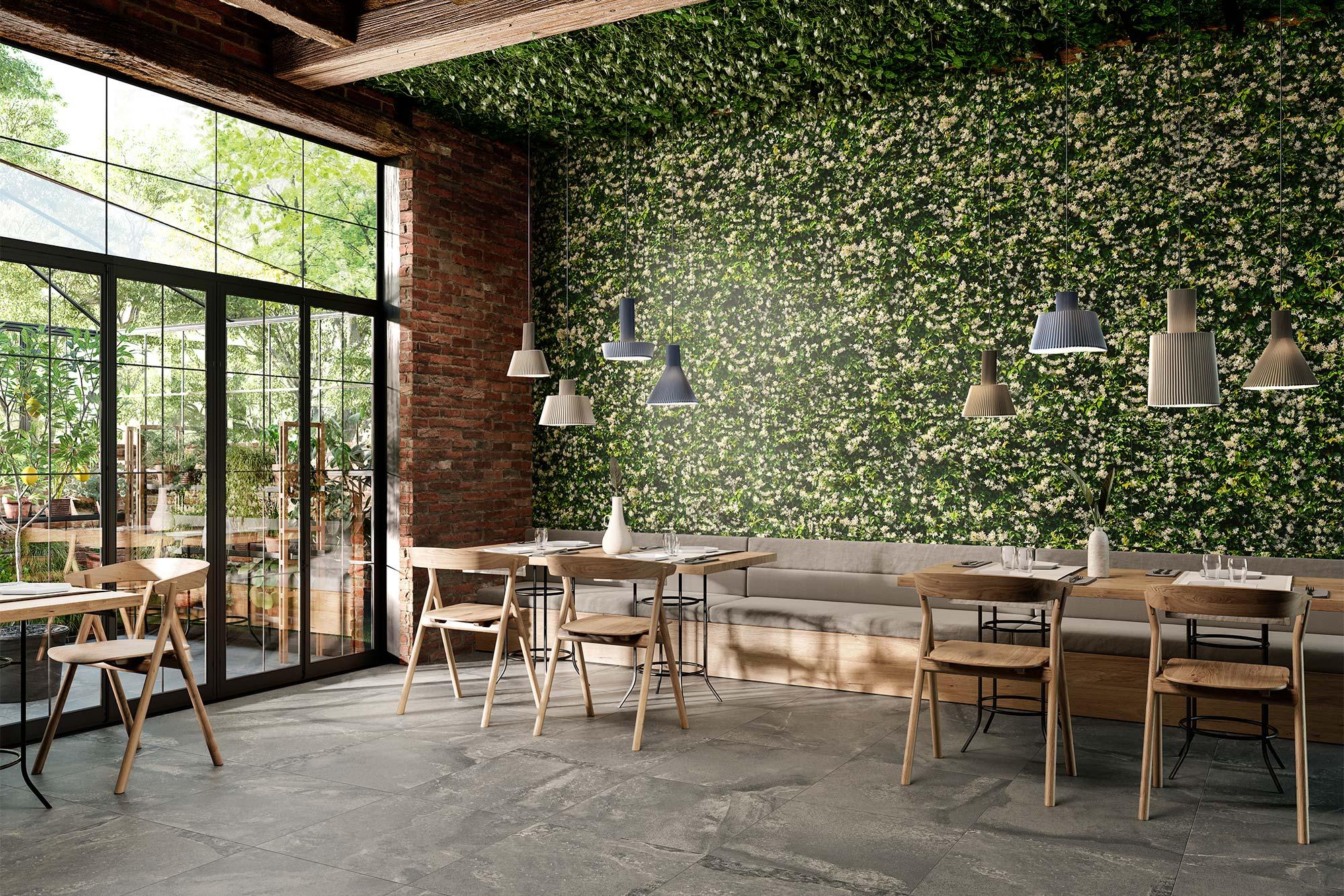 Lithos Large Format Photorealism Tile Foliage Leaves Porcelain Stoneware